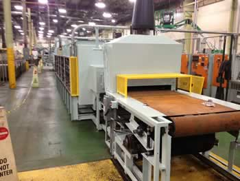 JL Becker Co. 36z inch Wide Mesh Belt Brazing Furnace Line